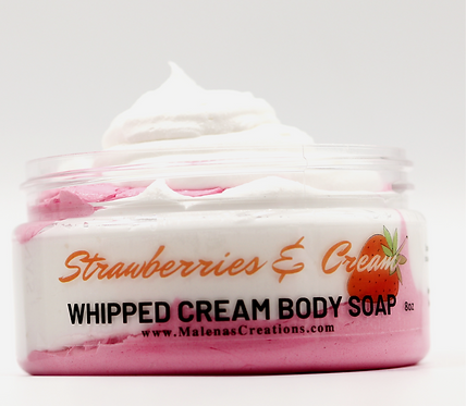 Strawberries and Cream Whipped Cream Body Soap