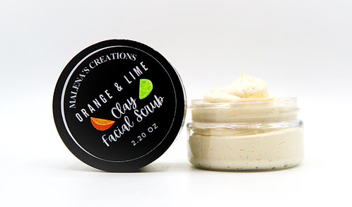 Orange & Lime Clay Facial Scrub