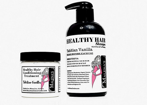 Healthy Hair Tahitian Vanilla Gift Set (SLS and Paraben Free)