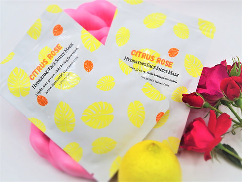 Citrus Rose Hydrating Face Sheet Mask
