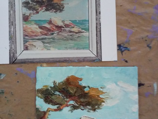 Een opdracht voor een schilderijtje van 14 x 14 xm