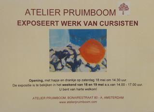 Cursisten exposeren in Atelier Pruimboom
