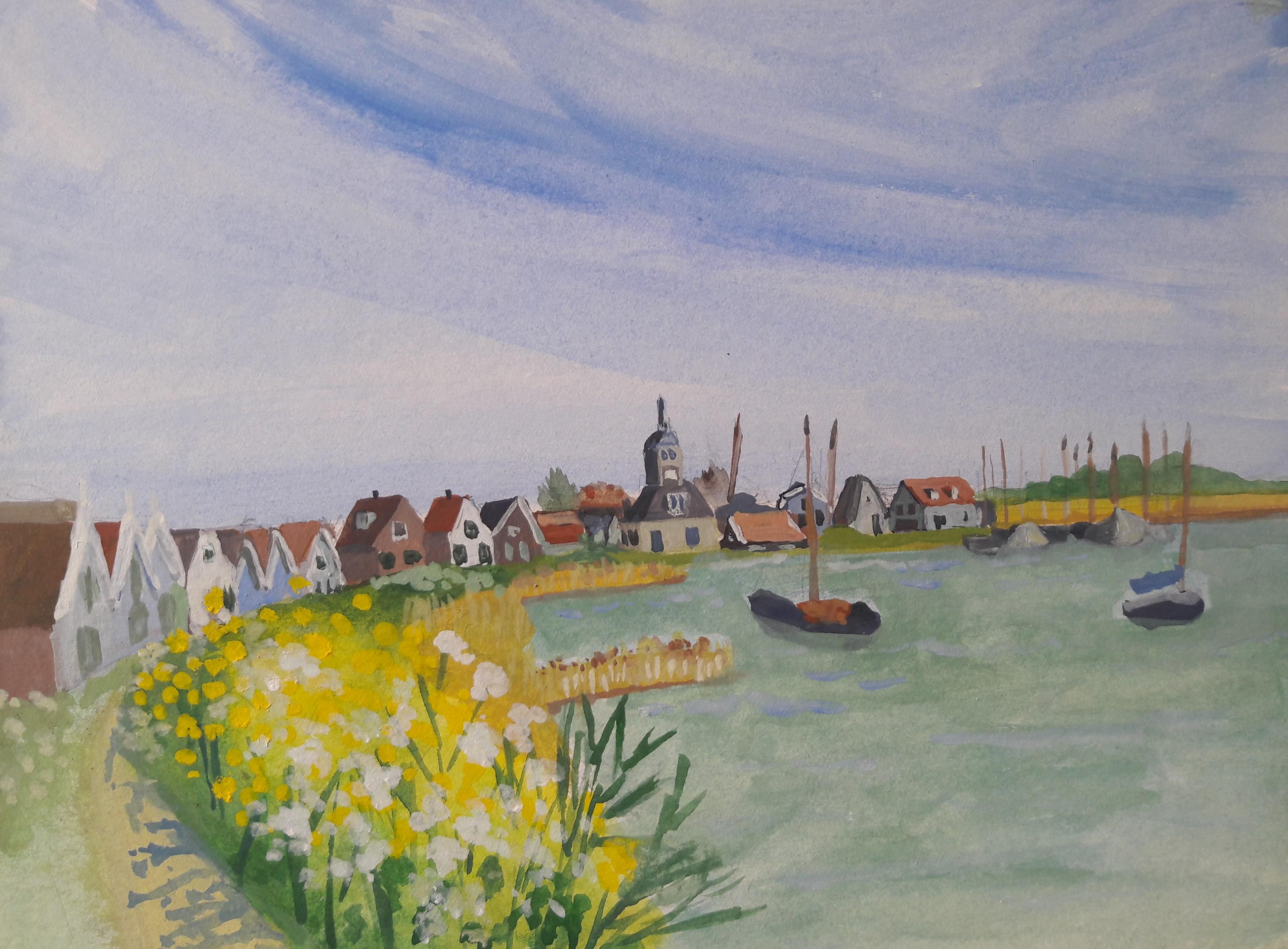 tekenen in tijden van corona, Durgerdam.