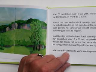 Fotoboekje van de Dordogne-schilderijtjes