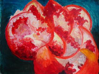 Een granaatappel, een inspirerend onderwerp!