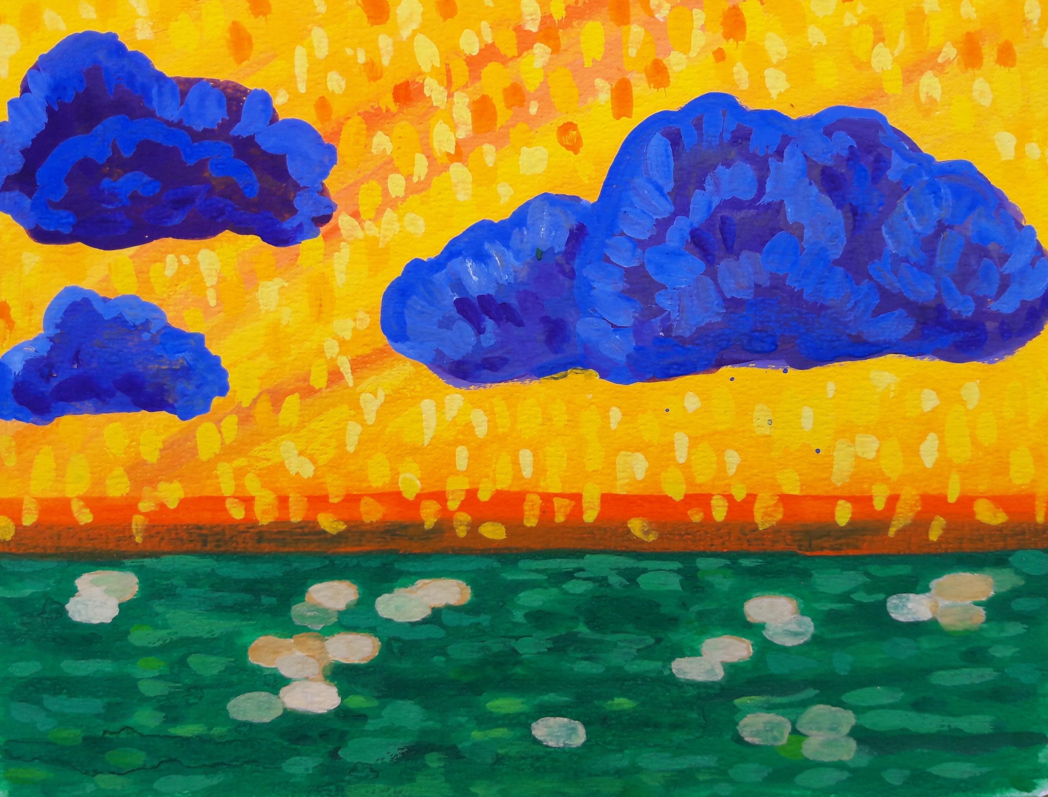 Blauwe wolken Castricum