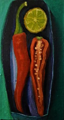 tekenen in tijden van corona, rode peper