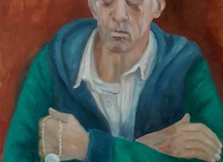 Portret van mijn man, olieverf op doek, 60 x 80 cm