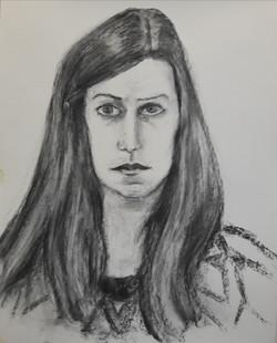 portret salome houtskool