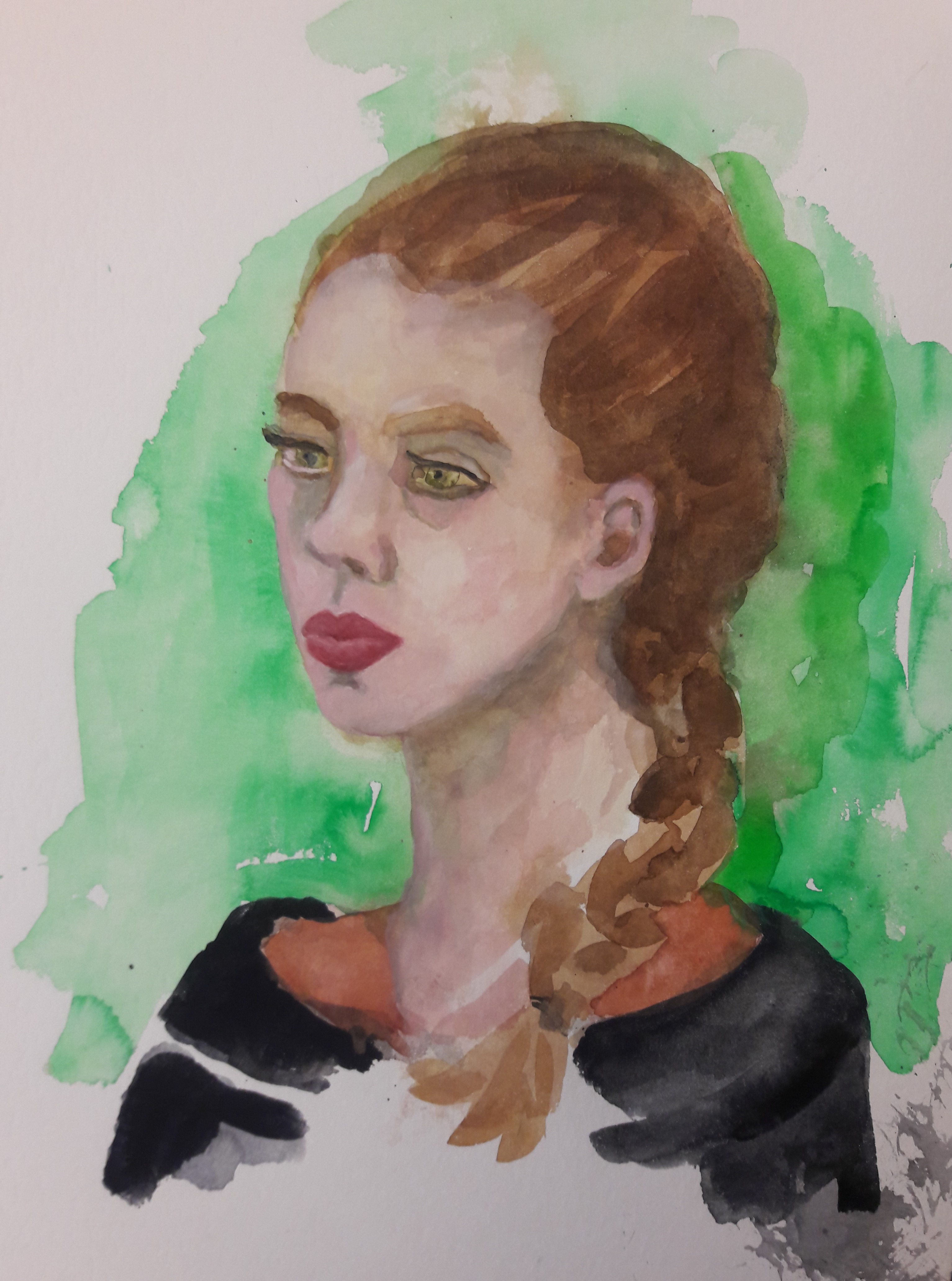 portret eugenia gouache