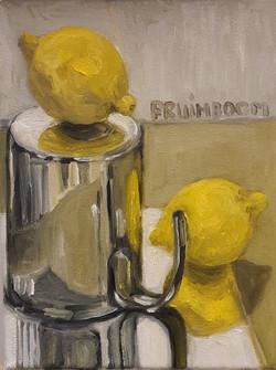 stilleven 2 citroenen spiegel