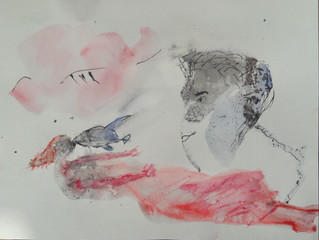 Workshop fantasietekeningen met inkt en aquarel, geinspireerd door Lucebert