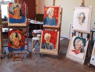 Workshop portret met paletmes