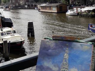 Pintar Rapido: maak een schilderij in een dag, op locatie in Amsterdam