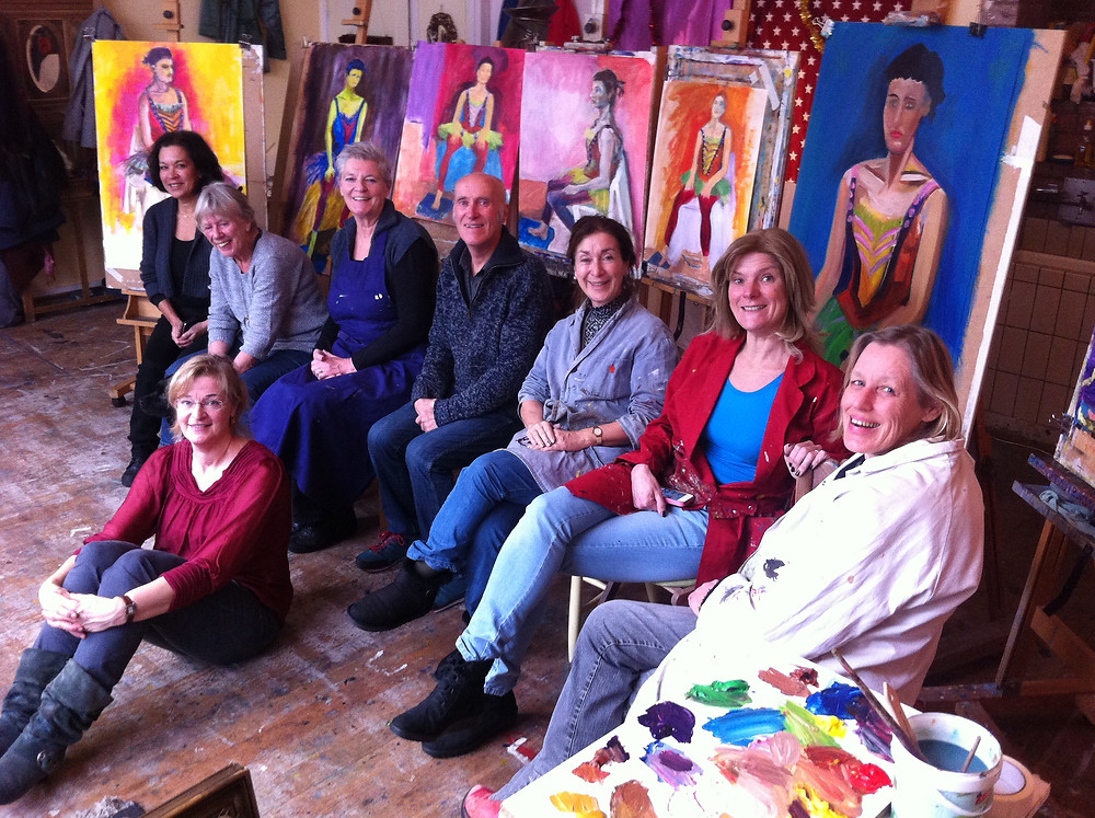 marianne pruimbooms class at bonairestraat on 17 december 2014 with vasiliki in