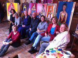 marianne pruimbooms class at bonairestraat on 17 december 2014 with vasiliki in