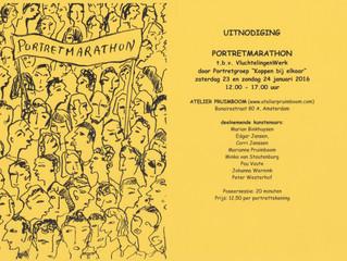 Portretmarathon op zaterdag 23 en zondag 24 januari a.s. van 12.00 - 17.00 uur