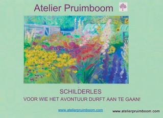 Schilderen in Atelier Pruimboom