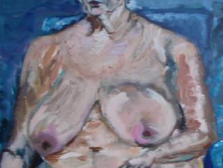 """Workshop """"Naaktmodel geinspireerd door het werk van Lucian Freud"""". De eindresultaten."""