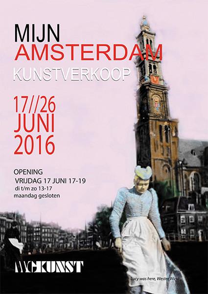 """Welkom op de expositie """"Mijn Amsterdam"""". Ik doe mee met twee stadsgezichten."""