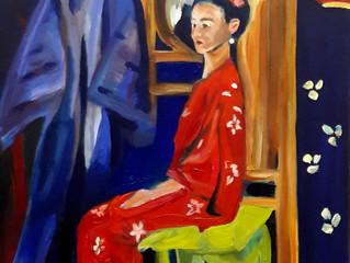 Model in kimono, deel II