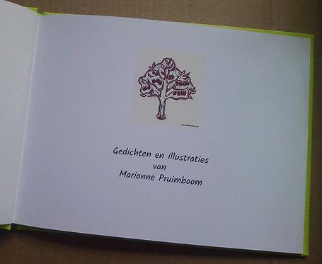 Een boekje met door mij gemaakte gedichten en illustraties, 22 bladzijden