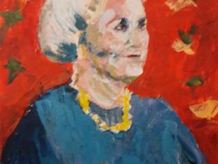 De resultaten van de workshop portretschilderen met het paletmes