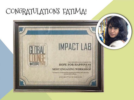 Hope for Happiness takes home 'Most Engaging Workshop'