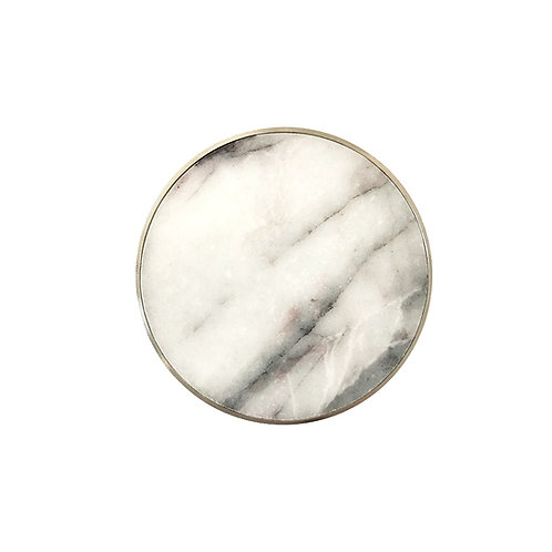 marble clasp, white with grey veins