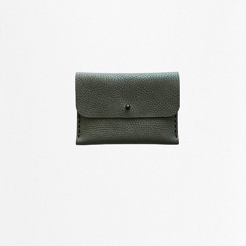 Green cardholder made of bio leather from Disselhoff