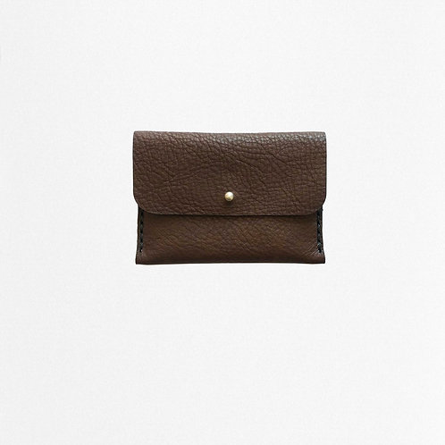 brown cardholder made of bio leather from Disselhoff