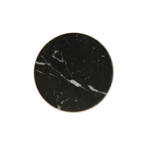 marble clasp, black with white veins