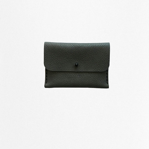 Black cardholder made of bio leather from Disselhoff