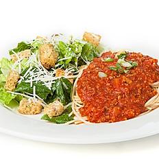 Spaghettini et salade César
