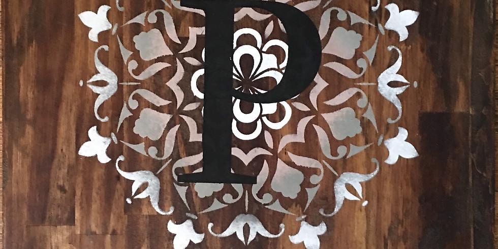 Make & Take - Square Mandala/Rustic Sign