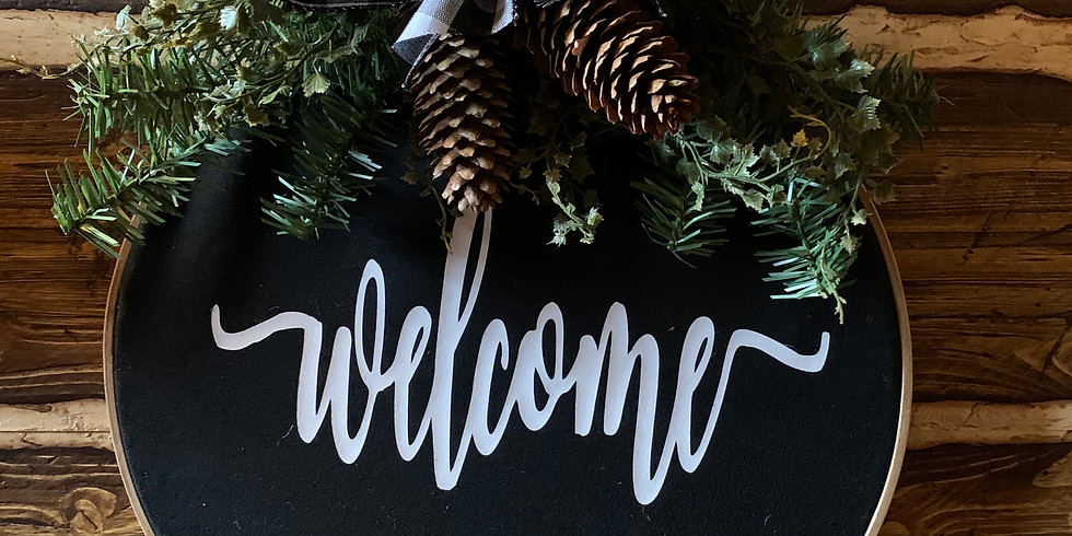 Make & Take Embroidery Hoop Wreath 2nd Class