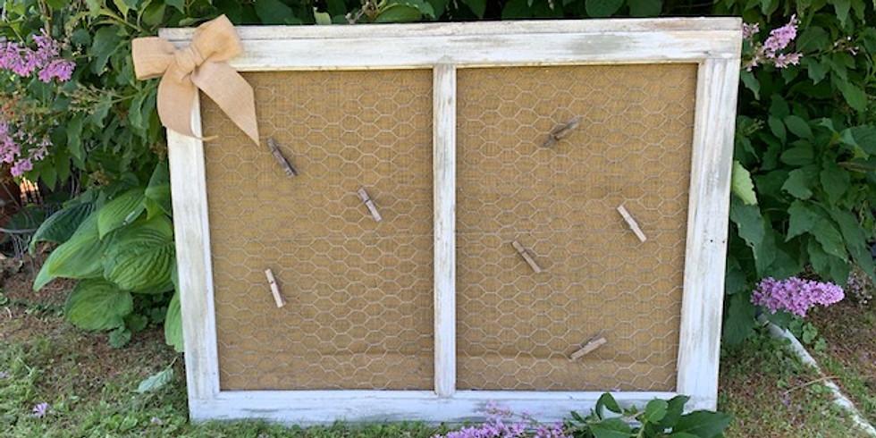 Make & Take - Farmhouse Vintage Window Organization Board