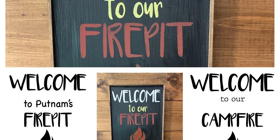 Framed Firepit Sign