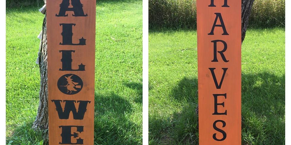 Make & Take - Halloween/Harvest Sign