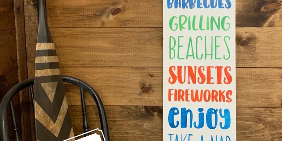 Jumbo Summer Sign