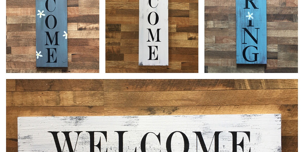 Spring/Welcome Farmhouse Styled Signs