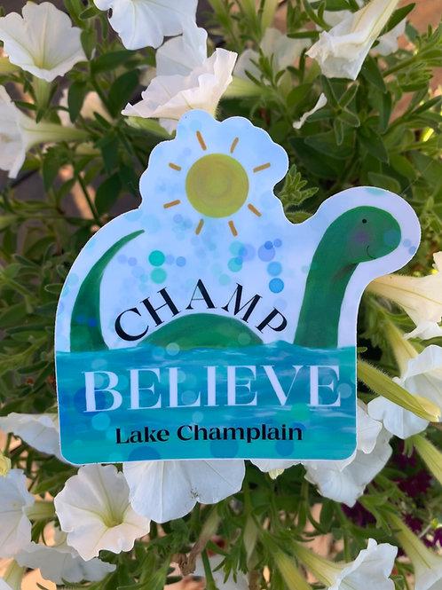 Champ sticker - belive