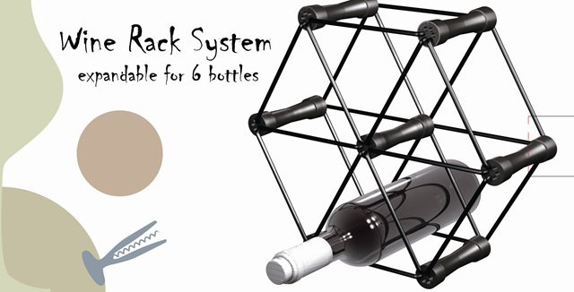 Plastic steel combination wine rack 塑鋼組合酒架