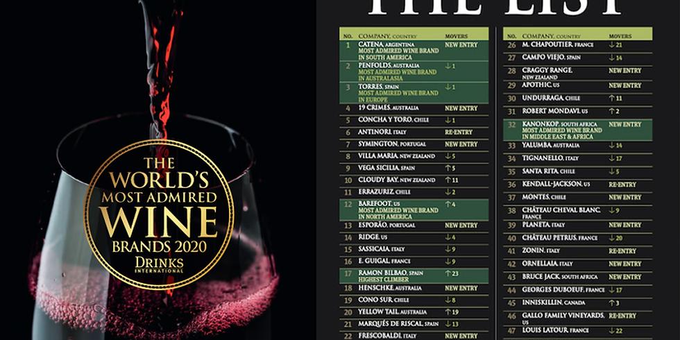 10/2(六) 2020 年全球 50 大最受景仰的酒莊:學霸家族 Catena Zapata卡帝娜+Torres 多利士