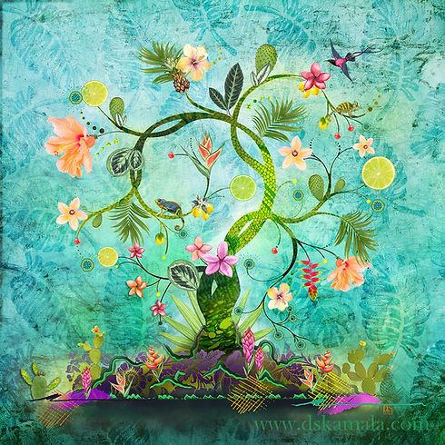 arbre de vie tableau décoration dskamala sophie desplat