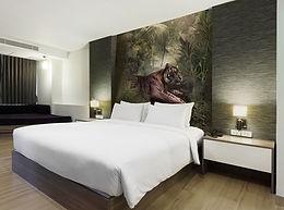 decoration murale jungle tigre papier peint chambre hotel dskamala sophie desplat