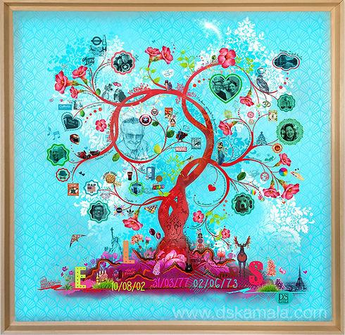 tableau personnalisé arbre de vie dskamala sophie desplat