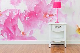 decoration murale dskamala fleur rose.jp
