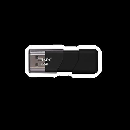 32GB Black PNY Attache Flash Drive