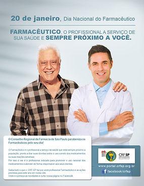 Anúncio de jornal campanha CRF SP